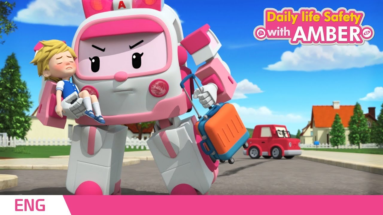 Download 🚨 Daily life Safety with AMBER  | EP 01 - 04 | Robocar POLI | Kids animation