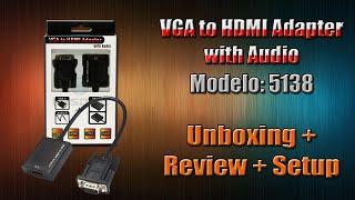 VGA to HDMI Adapter with Audio / 5138 - Unboxing, Review y Setup - El Basurero de Toto