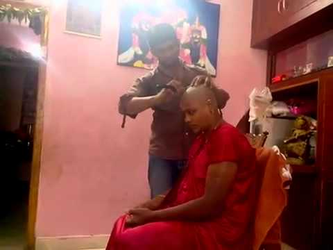 Indian Bhabhi Home Headshave By Barber YouTube