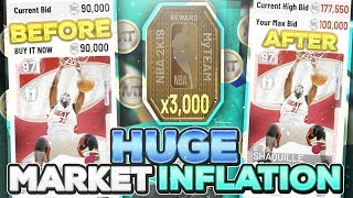 huge auction house inflation in nba 2k19 myteam take advantage before these prices go up