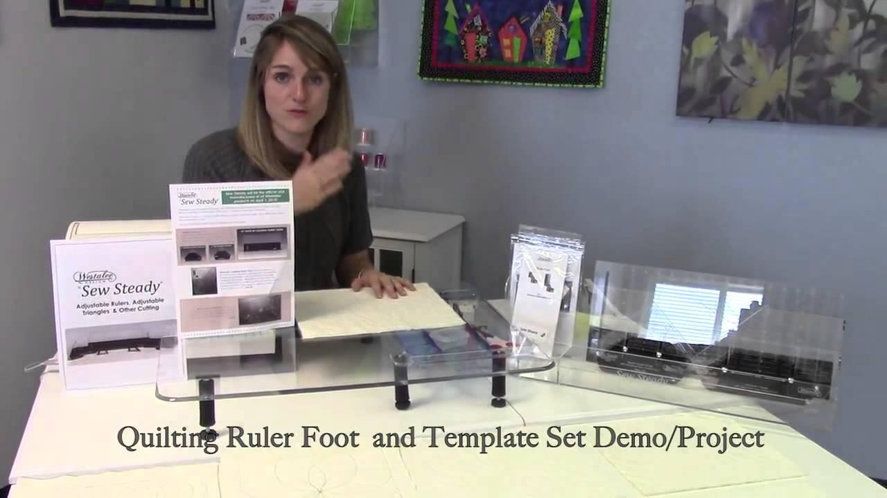 Free Motion Ruler Foot Amp Template Starter Set Youtube