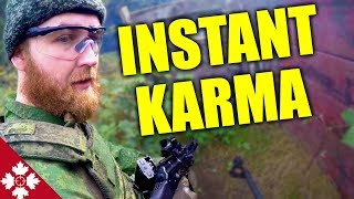 AIRSOFT CHEATER INSTANT KARMA He Gets What He DESERVES!
