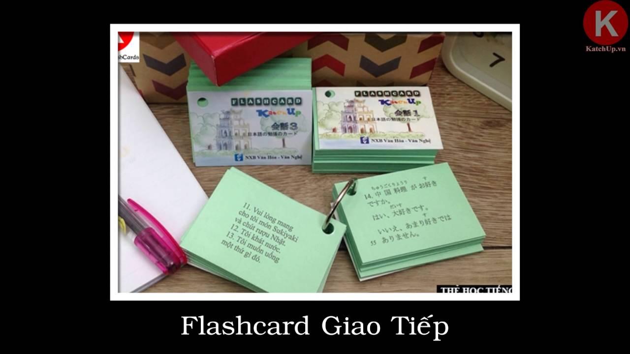Thẻ Học Tiếng Nhật – Katchup Flashcard – Bí quyết học tiếng nhật cho người mới bắt đầu