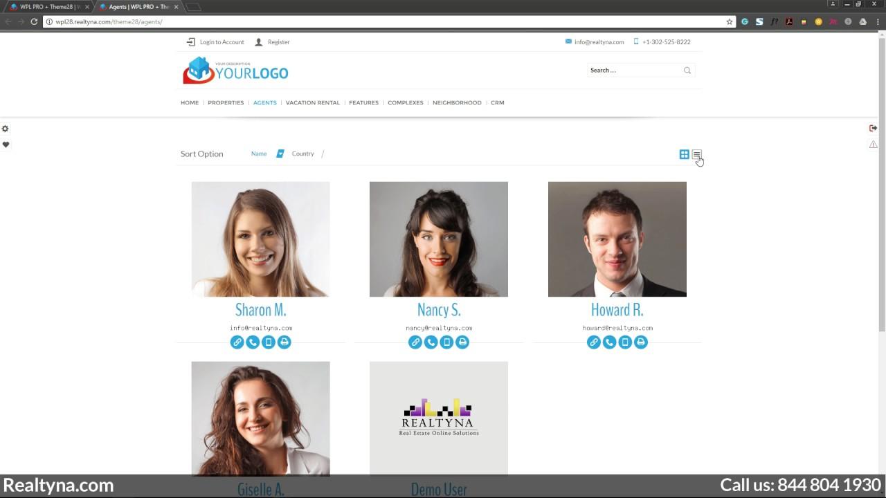 Realtyna WPL Multi-agent (brokerage) website plug-in