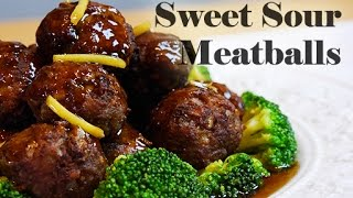Sweet Sour Meatballs (RECIPE)甘酢かけミートボール