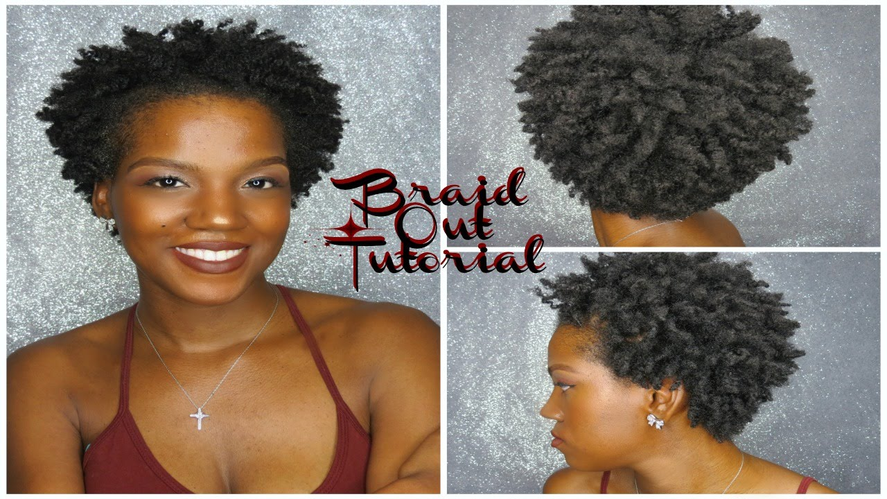 Natural Hair | Braid Out On Short Natural Hair | 4C Hair ...