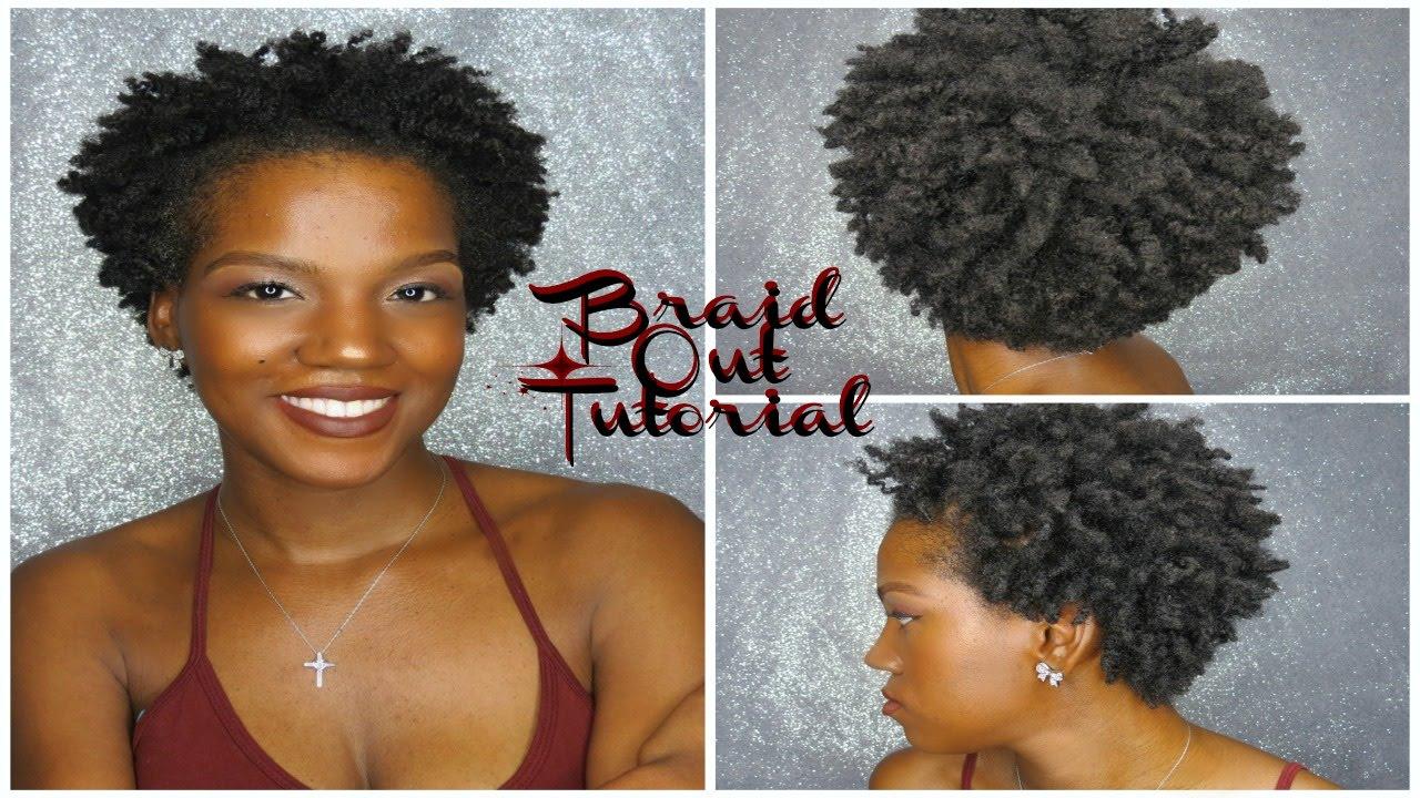 Natural Hair   Braid Out On Short Natural Hair   4C Hair ...