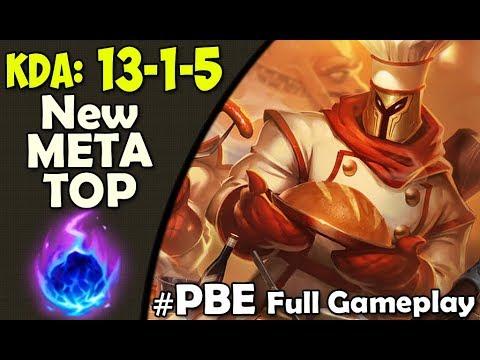 PBE New META TOP | Pantheon vs Jax TOP | SEASON 8 Full Gameplay League of Legends