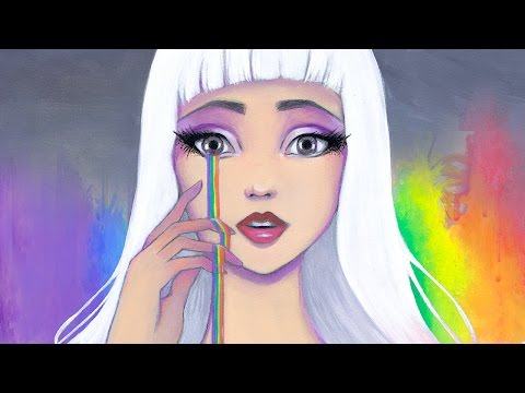 Joy, Artistic Process Self Portrait Acrylic Speed Paint by Leilani Joy