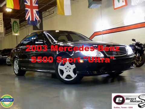 2003 Mercedes Benz S500 Sport Edirect Motors Youtube