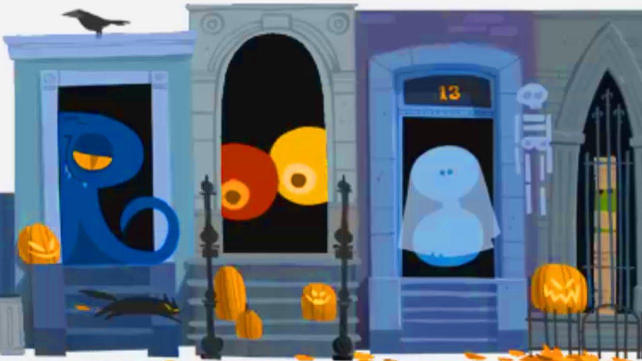 Happy Halloween! Google Halloween Doodle 2012 Trick or Treat Interactive Game - YouTube