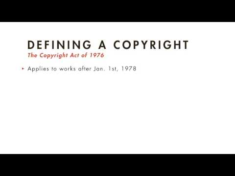 Intellectual Property tutorial: What Copyrights Can be Prote