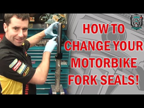 How to change fork seals in traditional (right way up) Forks.