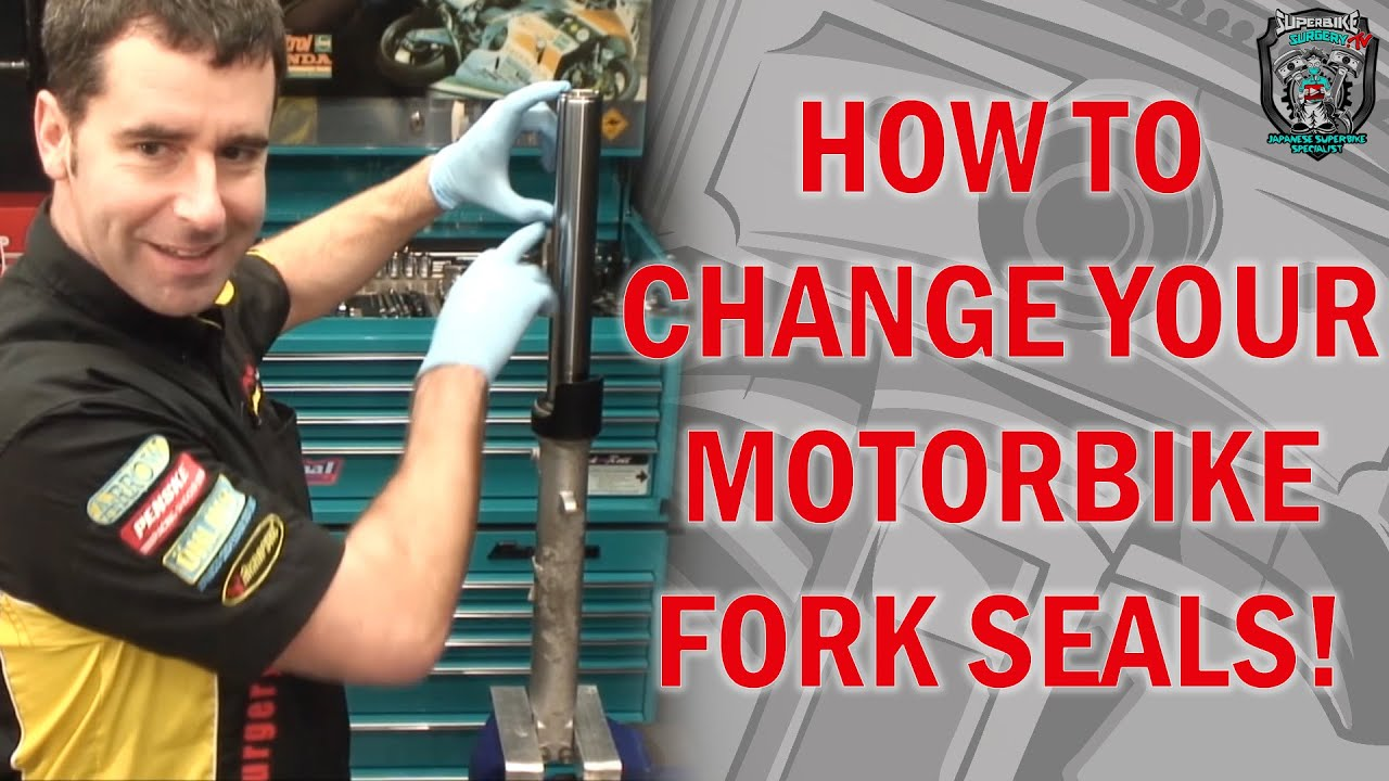 How to change fork seals in traditional (right way up) motorcycle forks