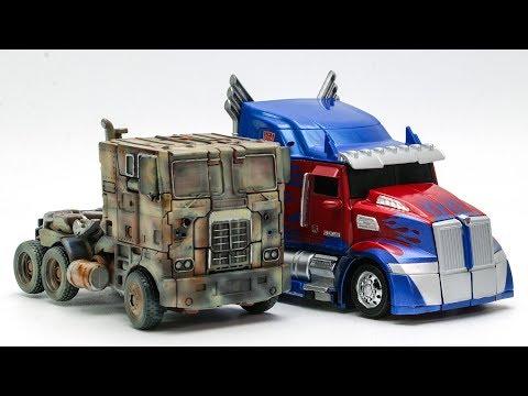 Transformers Movie 4 5 REPAINT Evasion Optimus Prime Night Optimus Prime Truck Car Robot Toys
