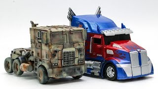 Transformers Movie 4 5 REPAINT Evasion Optimus Prime Night Optimus Prime Truck Car Robot Toys