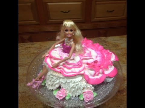 Barbie Doll Cake Decorating Ideas : Barbie Doll CupCake! How To Cake Decorating - YouTube