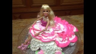 barbie doll cupcake how to cake decorating
