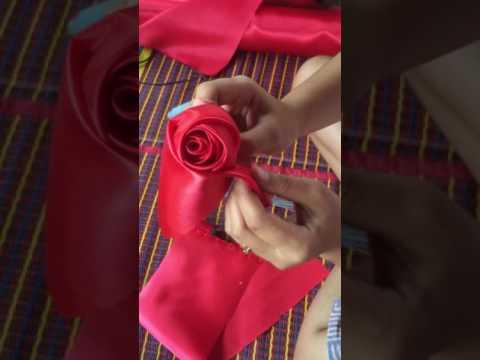 EP.2 วิธีพับดอกกุหลาบจากผ้า