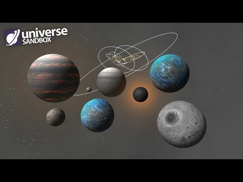 Making A Solar System Out Of Grey Objects, Universe Sandbox ²