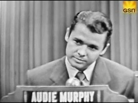 Audie Murphy What's My Line on 3 July, 1955