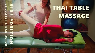 Thai Table Massage | Side Position by Elefteria | HD & CC