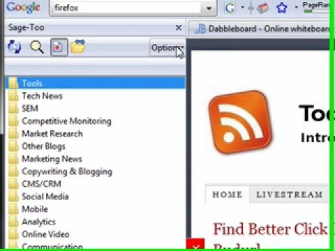 Leveraging RSS Feeds and The Sage-Too Addon For Firefox