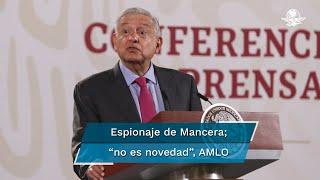 El Presidente López Obrador recordó que desde hace más de cuatro décadas como opositor fue espiado por los aparatos de inteligencia del Estado Mexicano