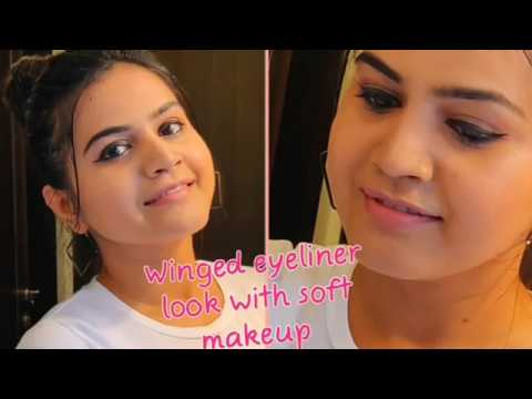 Soft Makeup With Winged Eyeliner 😍