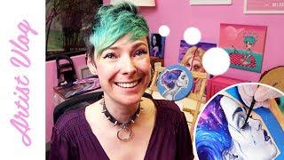 Artist Vlog #18 | Painting greyscale skin!