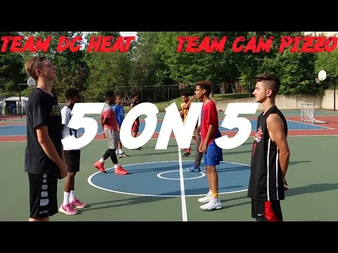 Thumbnail: TEAM DC HEAT V.S. TEAM CAM PIZZO! | 5 ON 5 BASKETBALL WITH FANS!