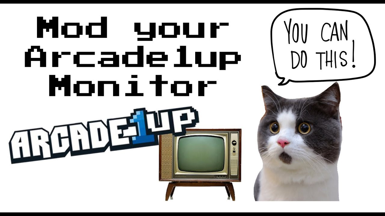 "Mod Your Arcade1up Cabinet with a 19"" LCD Monitor!!"