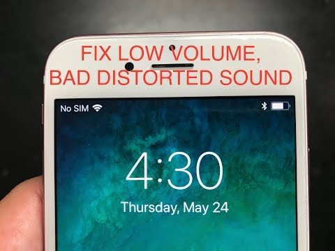 FIX APPLE IPHONE 6/6S EAR SPEAKER, LOW VOLUME MUFFLED SOUND. EASY NO COST FIX!
