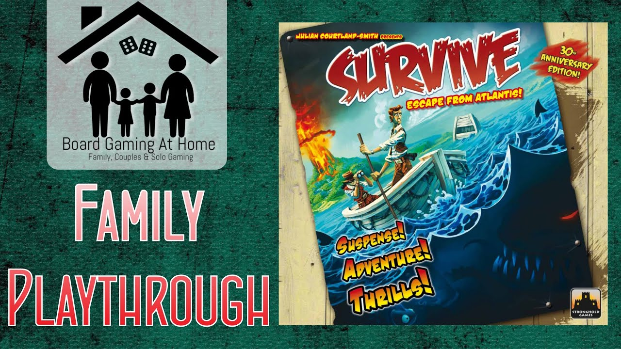 survive escape from atlantis family playthrough board game