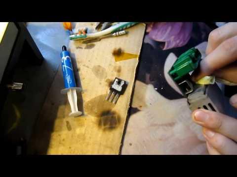 Замена транзистора в блоке управления климат контроля Renault Scenic 2