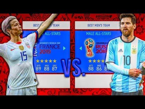 Women's ALL-STARS Vs. Men's ALL-STARS! - FIFA 19 Career Mode