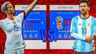 Women's ALL-STARS vs. Men's ALL-STARS! - FIFA 19 Career Mode