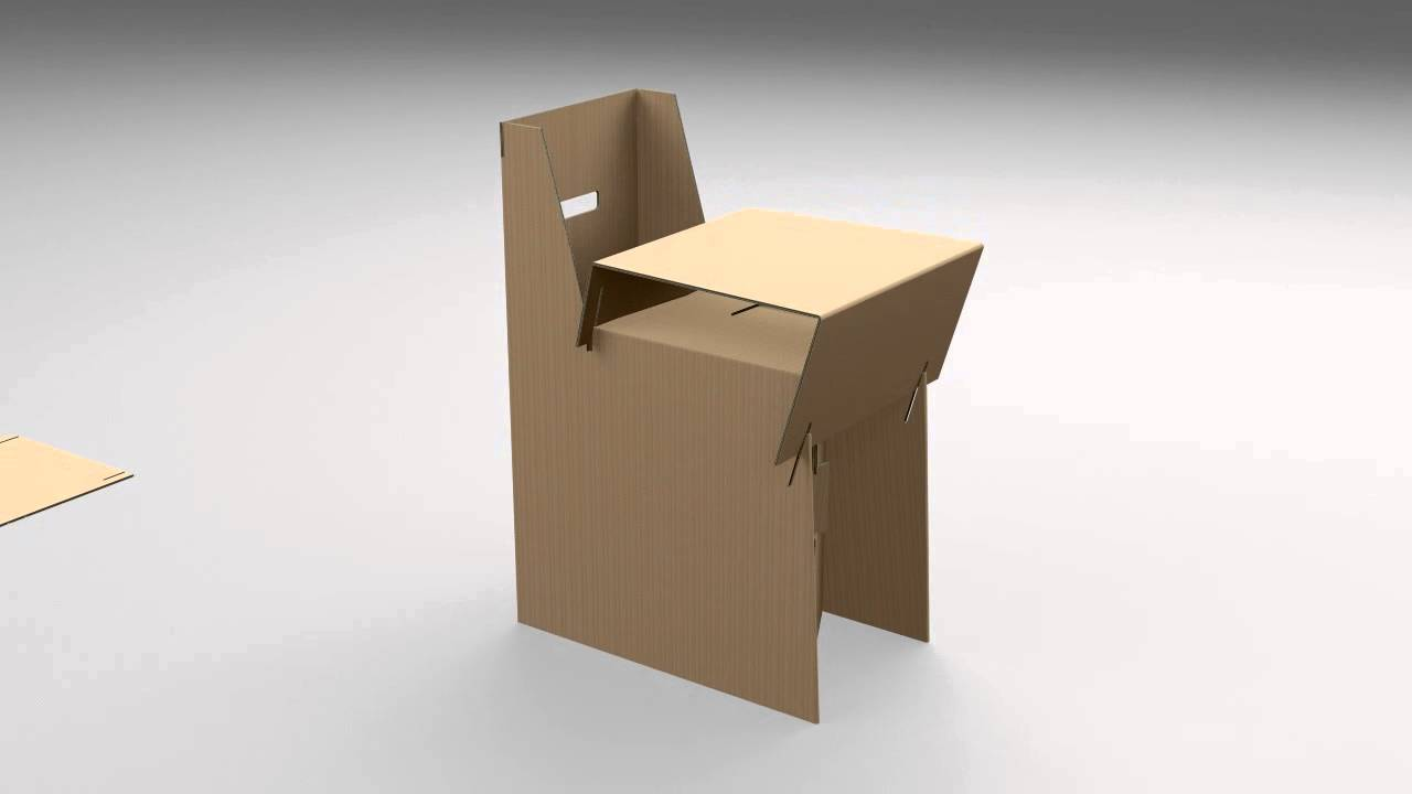 mobilier carton micro cannel chaise youtube. Black Bedroom Furniture Sets. Home Design Ideas