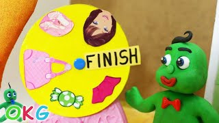 Green Baby -in- DRESSUP FASHION DESIGNER - Stop Motion Cartoons For Kids