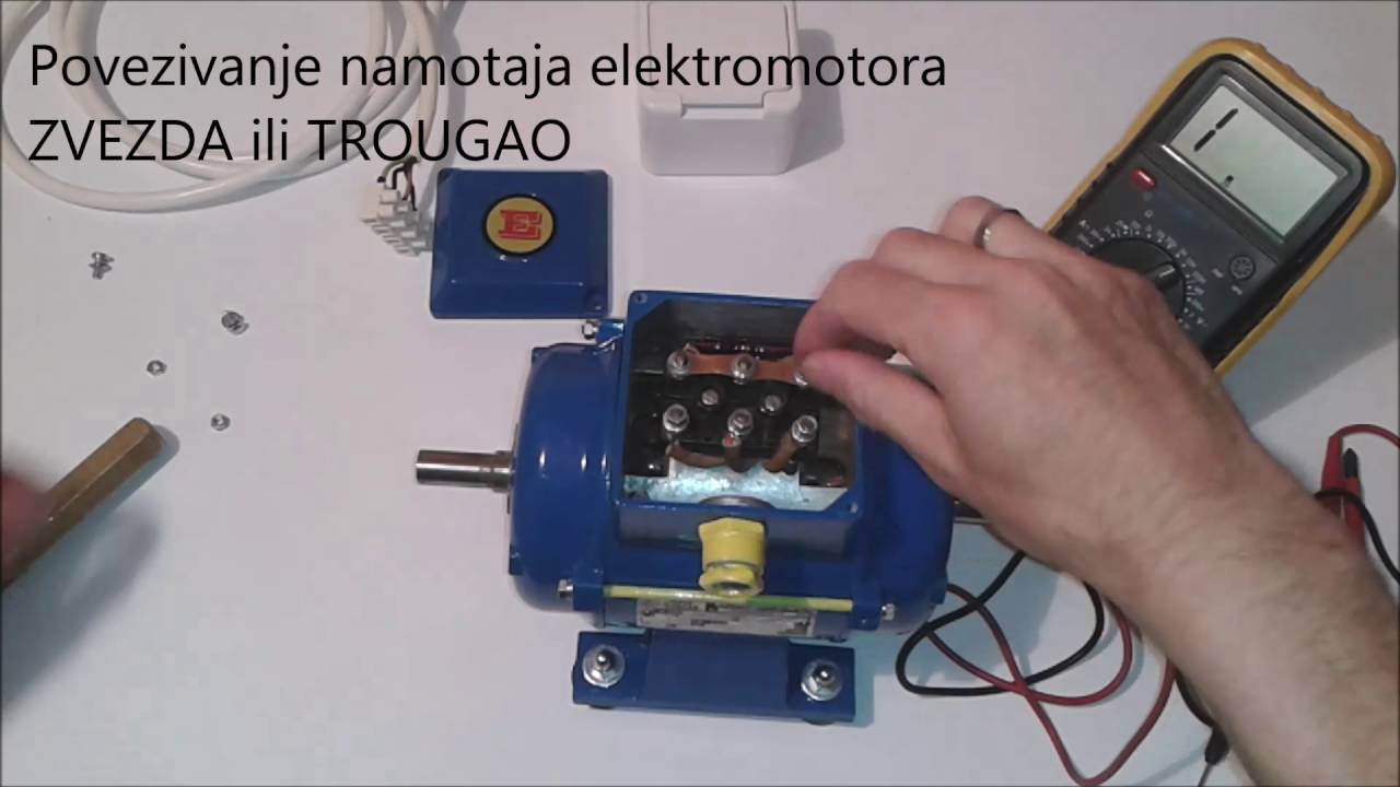 Spojite kondenzator za pokretanje motora