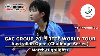 Australia Open 2015 Highlights HAYATA Hina vs MOON Hyunjung