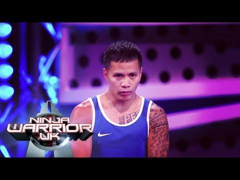 Deren Perez DOMINATES the Ninja Warrior course!   Ninja Warrior UK