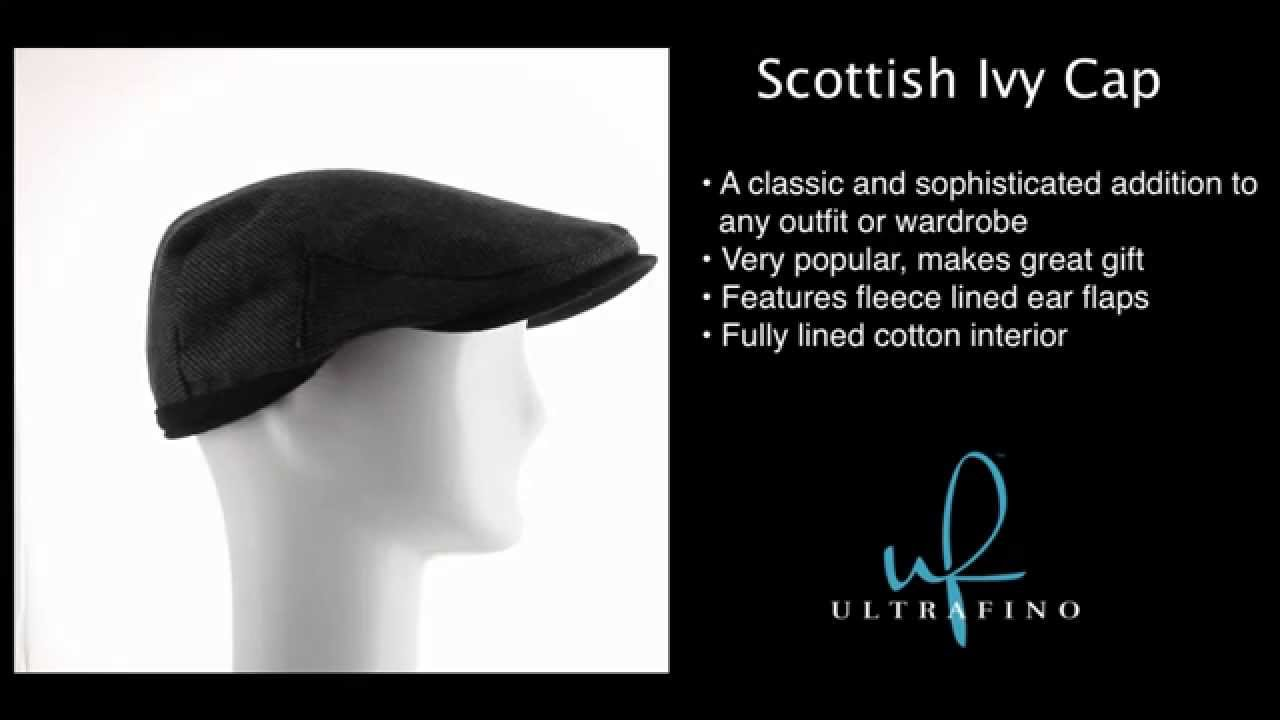 Scottish Wool Ivy Newsboy Hat with Fleece Ear Flaps - YouTube 5ea737385331
