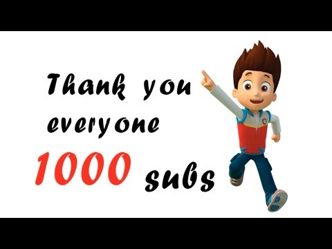THANK YOU SO MUCH FOR 1000 SUBSCRIBES