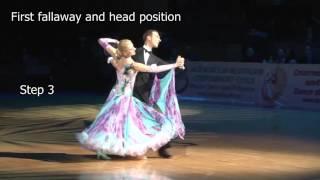 How to dance the three fallaway Style 4 | Arunas Bizokas & Katusha Demidova