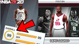 HOW TO GET 99 OVERALL in NBA 2K20 MOBILE!! NBA 2K20 Mobile Best Builds Tutorial!