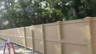 Cement Board Fence AKA Hardie Board and Hardie Backer.