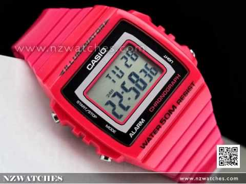 Casio Unisex Alarm Stopwatch Rainbow Color Watch W-215H. NZwatches ca923fd03e1e