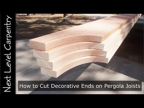 How To Cut Decorative Ends On Pergola Joists Youtube