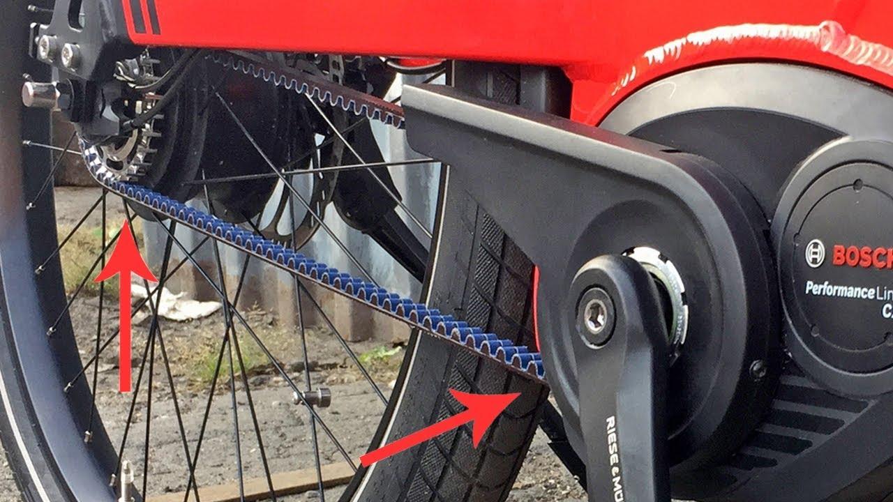 Belt Drive Bike >> Belt Drive Vs Chain On Electric Bikes Youtube